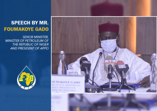 Thumbnail for the post titled: SPEECH BY Mr. FOUMAKOYE GADO SENOR MINISTER, MINISTER OF PETROLEUM OF THE REPUBLIC OF NIGER AND PRESIDENT OF APPO, AT THE OPENING OF THE 39th SESSION OF THE COUNCIL OF MINISTERS OF APPO.